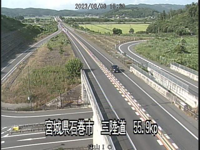 石巻市桃生津山ICのライブ画像